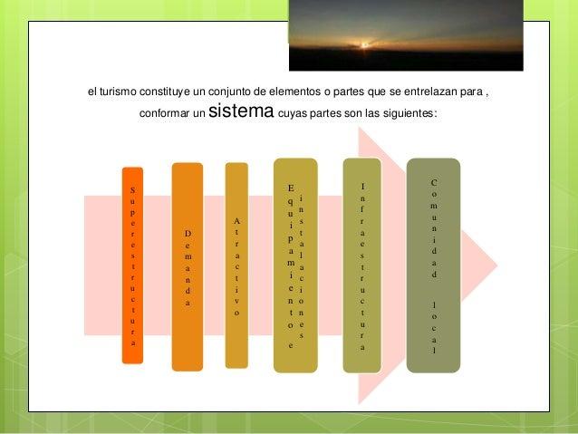Superestructura  Se ocupa de regular el sistema turístico, recogiendo los intereses, expectativas y objetivos de los subs...