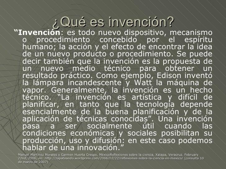 invenciones definicion