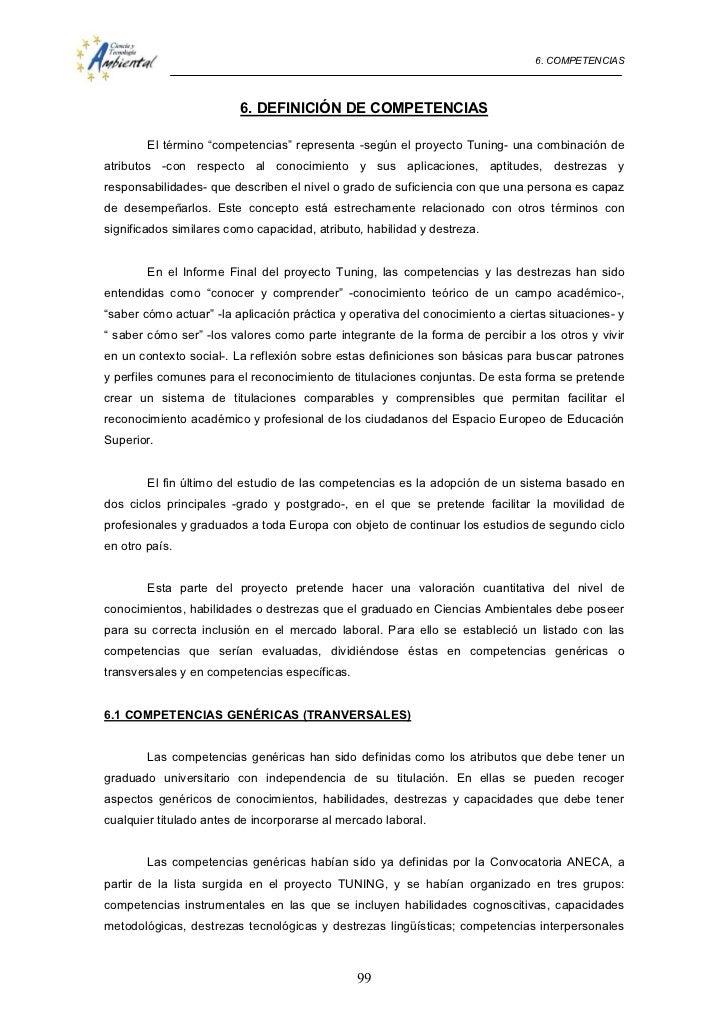 """6. COMPETENCIAS                         6. DEFINICIÓN DE COMPETENCIAS        El término """"competencias"""" representa -según e..."""