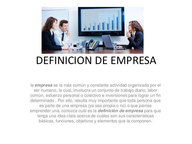 Definicion de empresa - photo#1