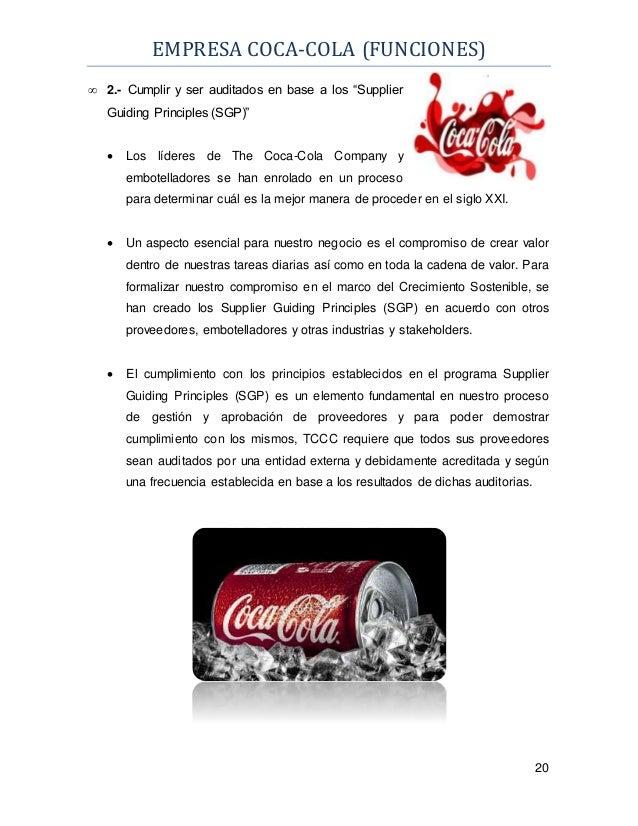Empresa Coca-Cola Giro y Razon Social