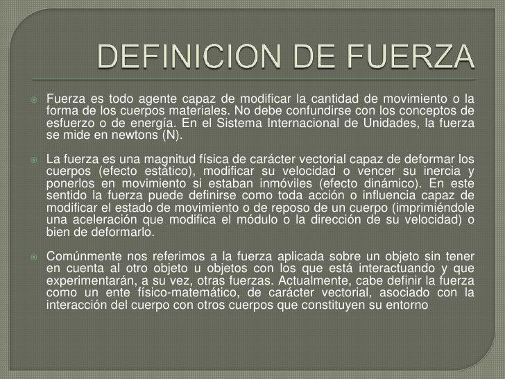 definicion de fuerza