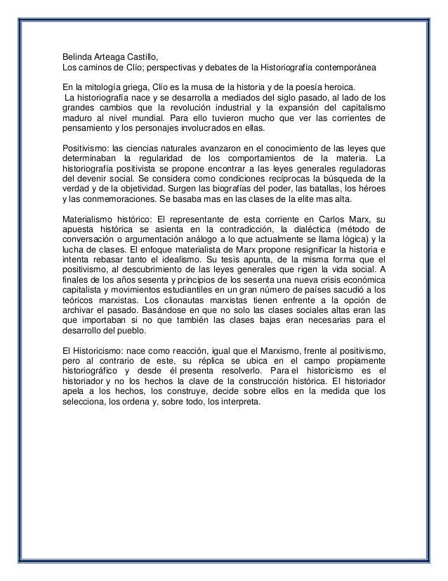 Definicion de historicismo positivismo materialismo for Definicion de contemporanea