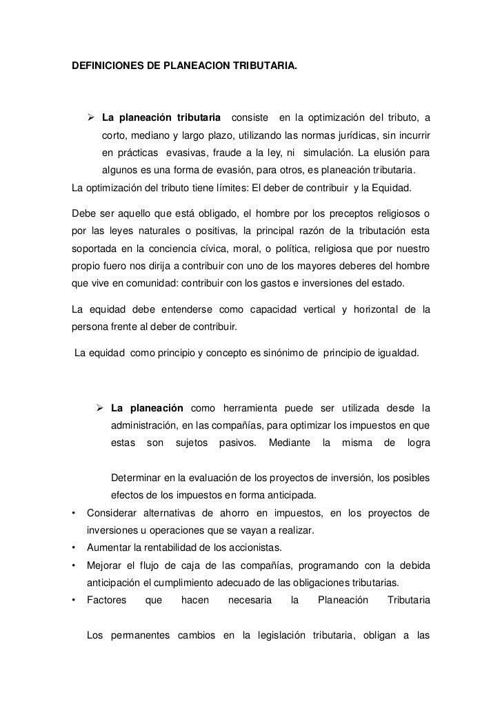 Definicion de planeacion tributaria for Definicion de marmol