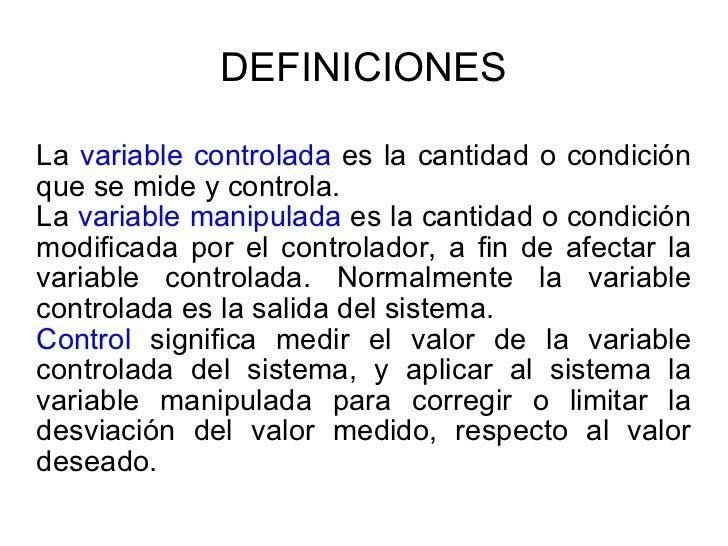 Definiciones de Control Slide 2
