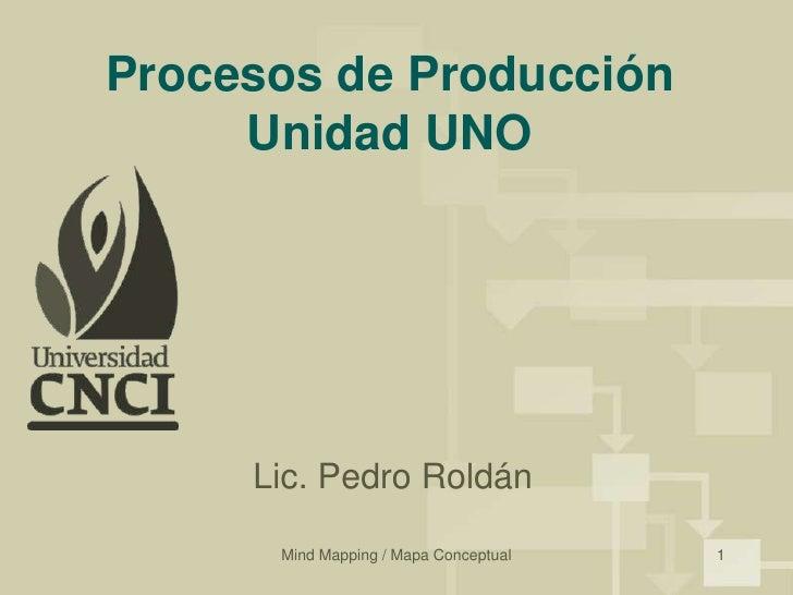 Mind Mapping / Mapa Conceptual<br />1<br />Procesos de ProducciónUnidad UNO<br />Lic. Pedro Roldán<br />