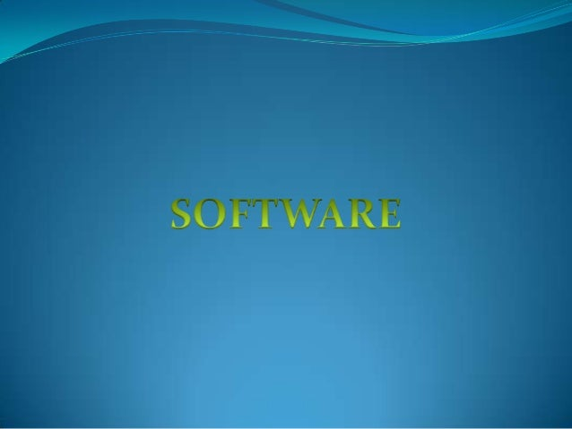 Definición  El software es un ingrediente indispensable para el funcionamiento del computador. Está formado por una serie...