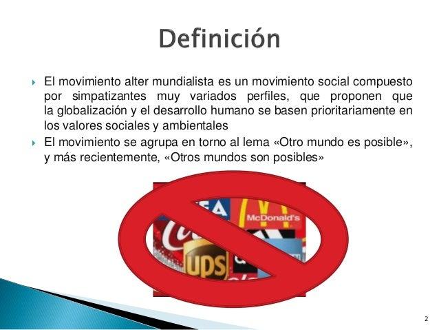 Definicion y origen altermundismo Slide 2