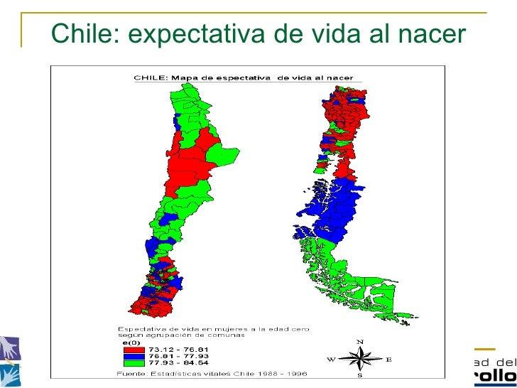 Chile: expectativa de vida al nacer