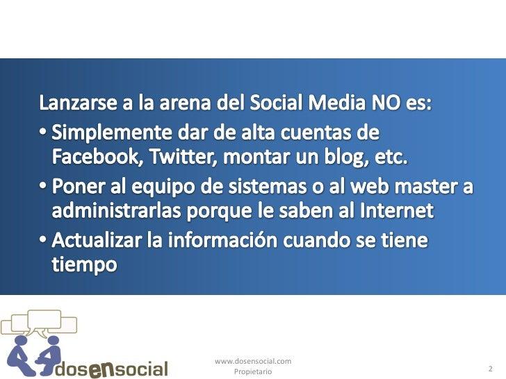 Definiendo tu estrategia empresarial de social media Slide 2