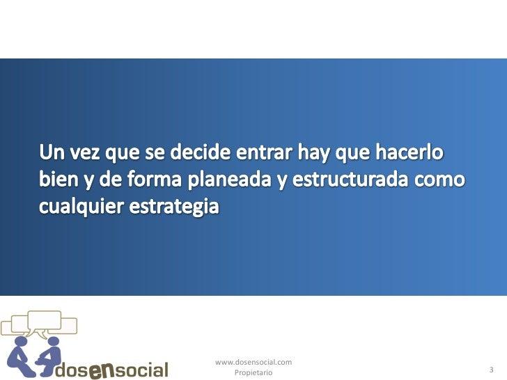 Definiendo tu estrategia empresarial de social media Slide 3