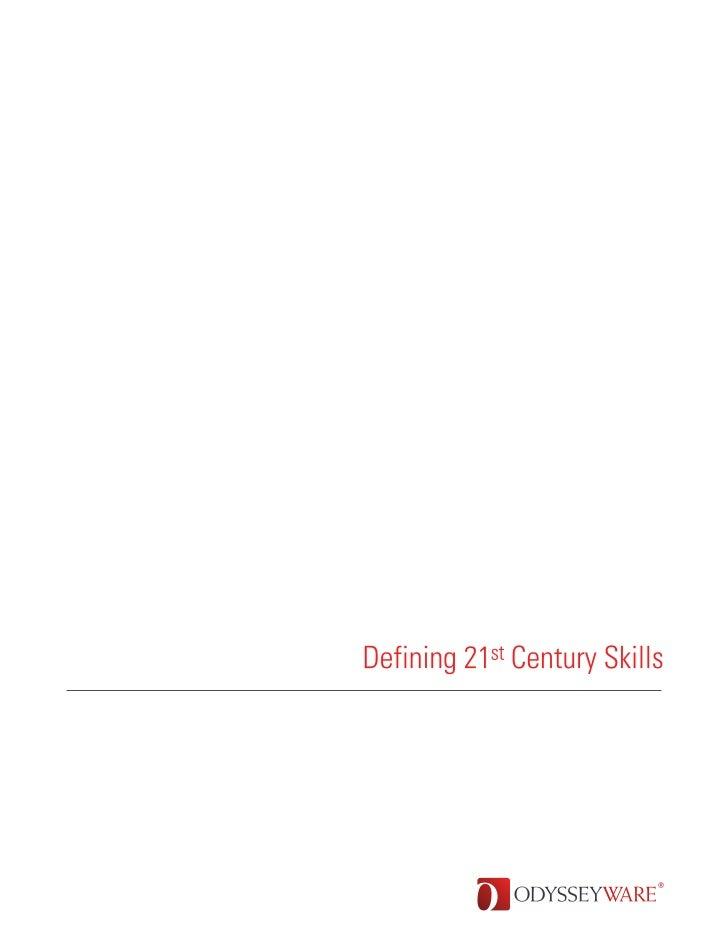 Defining 21st-century Skills - an ODYSSEYWARE Whitepaper