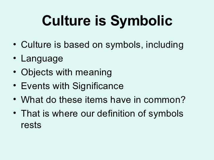 What Is Symbolic Culture In Anthropology Best Culture 2017