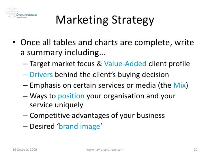 Marketing Strategy Workshop - Defining the 3 Ps