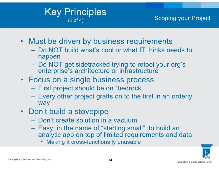 Key Principles                                                                           Scoping your Project             ...