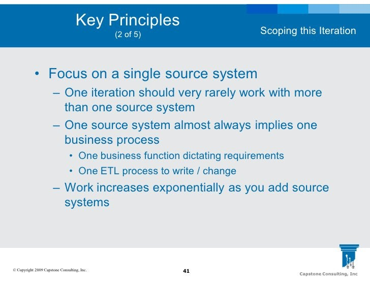 Key Principles                                                                         Scoping this Iteration             ...