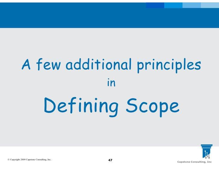 A few additional principles                                              in                                   Defining Sco...