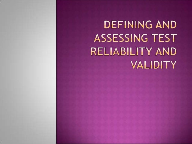 RELIABILITY refers to the consistency of a test in measuring whatever it measures. It is the degree to which a test will ...