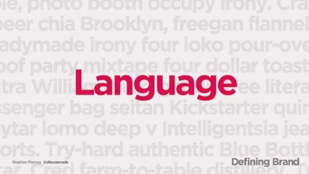 Stcpixc  n D:  crccy cgidiscoarcade  Language  Defining Brand