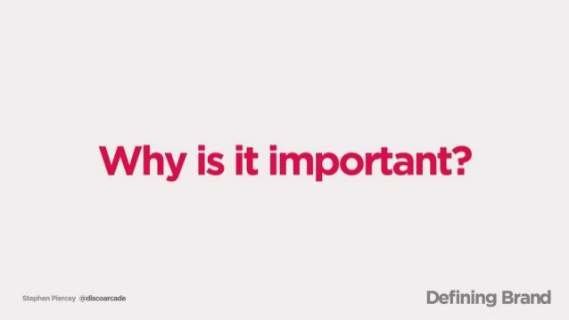 Why is it important?   swmm mmm Defining Brand