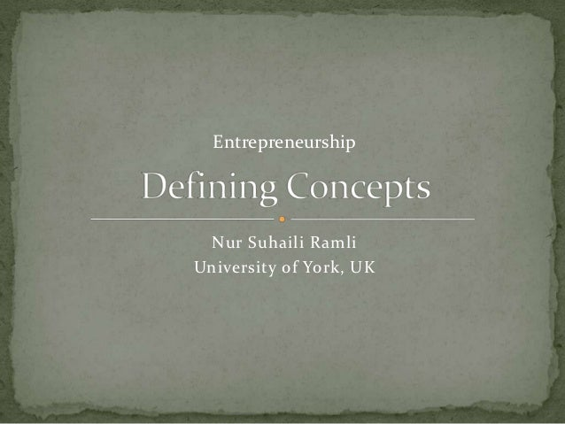 Entrepreneurship Nur Suhaili RamliUniversity of York, UK