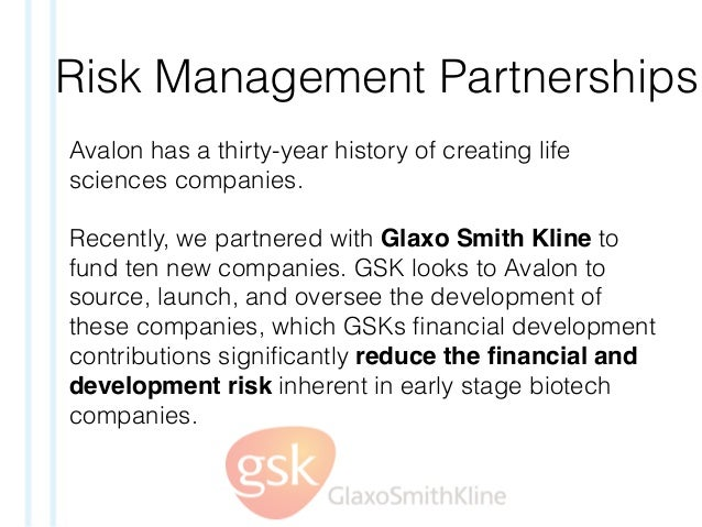 Risk Management Partnerships Avalon has a thirty-year history of creating life sciences companies. Recently, we partnered ...