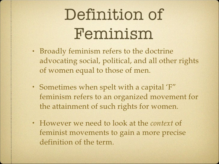 Amazing Definition Of Feminism ...