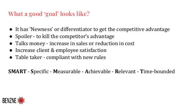 ● It has 'Newness' or differentiator to get the competitive advantage ● Spoiler - to kill the competitor's advantage ● Tal...