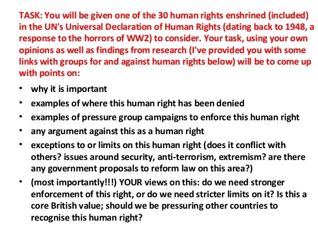Defining human rights