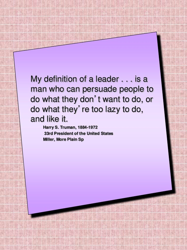 Defining Leadership With Quotes Inspiration Quotes Definition