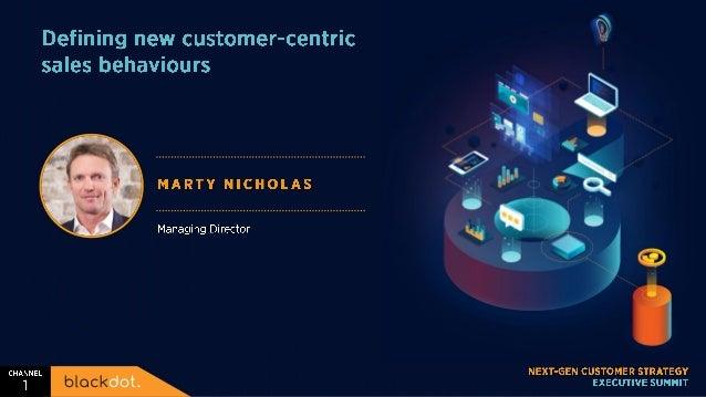 Defining new customer centric sales behaviours