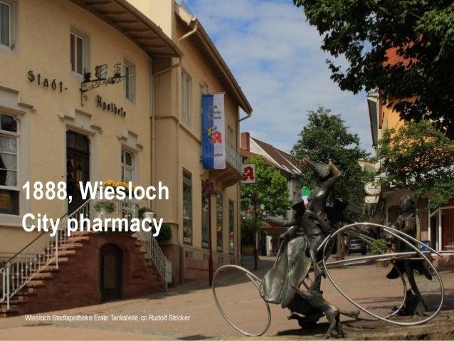 Wiesloch Stadtapotheke Erste Tankstelle, cc Rudolf Stricker 1888, Wiesloch City pharmacy