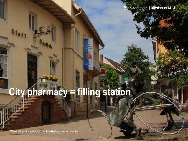 City pharmacy = filling station Wiesloch Stadtapotheke Erste Tankstelle, cc Rudolf Stricker @mbloomstein | #csforum14 4