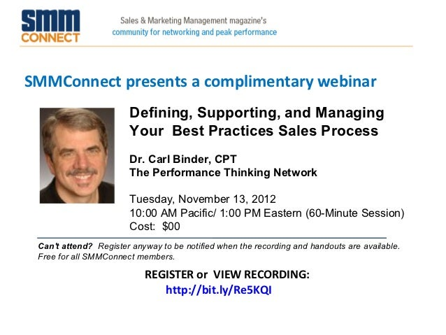 SMMConnect presents a complimentary webinar                        Defining, Supporting, and Managing                     ...