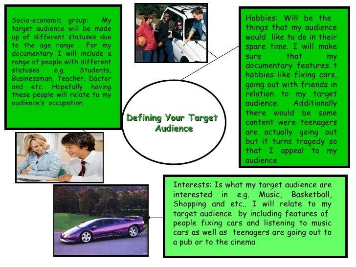 Defining Target Audience Slide 3