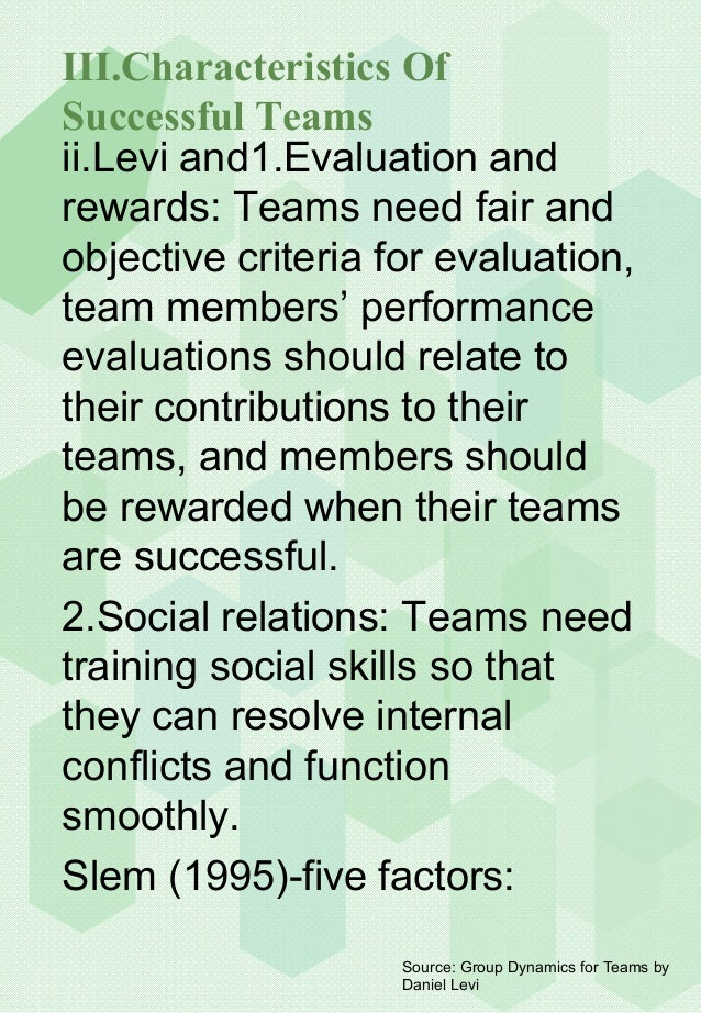 group dynamics for teams by daniel levi Incorporating the latest research throughout, daniel levis fifth edition explains the basic psychological concepts of group dynamics, focusing on their application with teams in the workplace grounded in psychology research and a practical focus on organizational behavior issues, this engaging book.