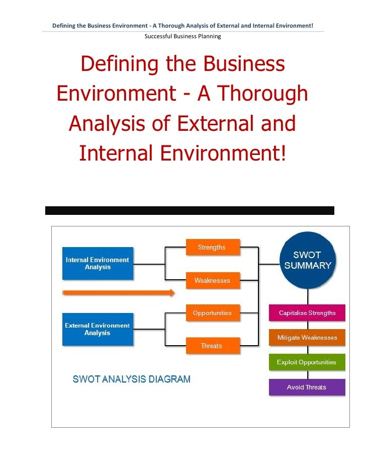 Defining the Business Environment - A Thorough Analysis of External and Internal Environment!                             ...