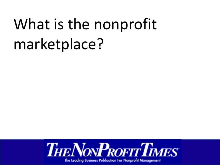 What is the nonprofit marketplace?<br />