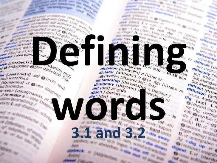 defining words