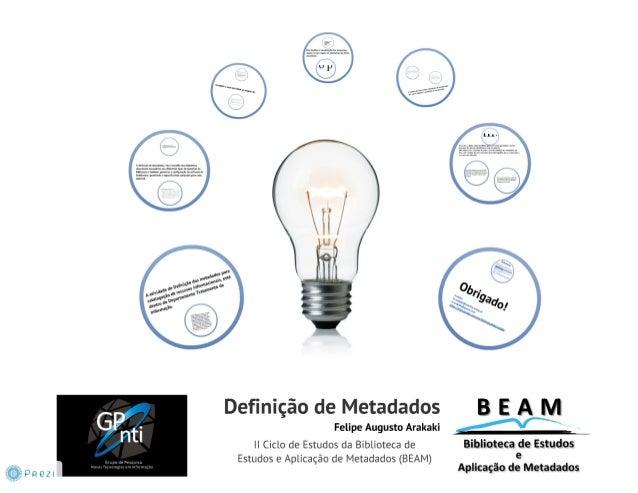 Definição de metadados 2012