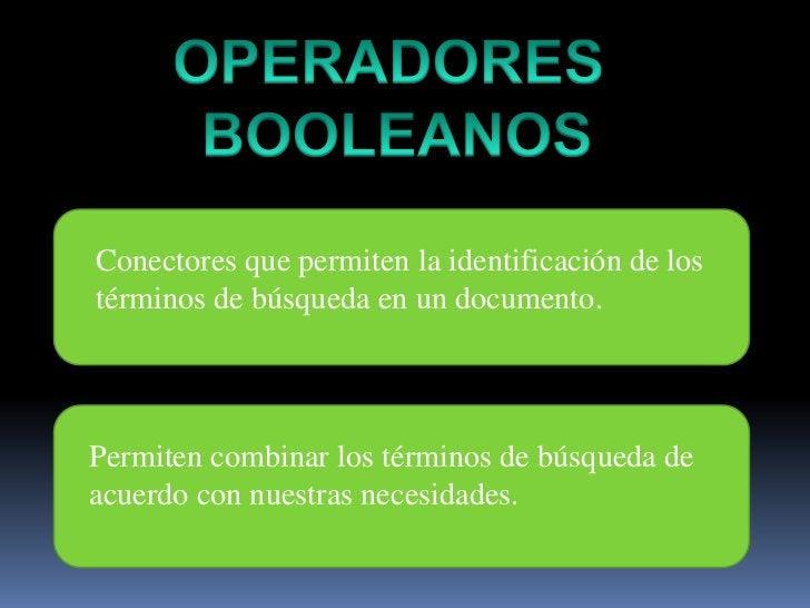 OPERADORES <br />BOOLEANOS<br />