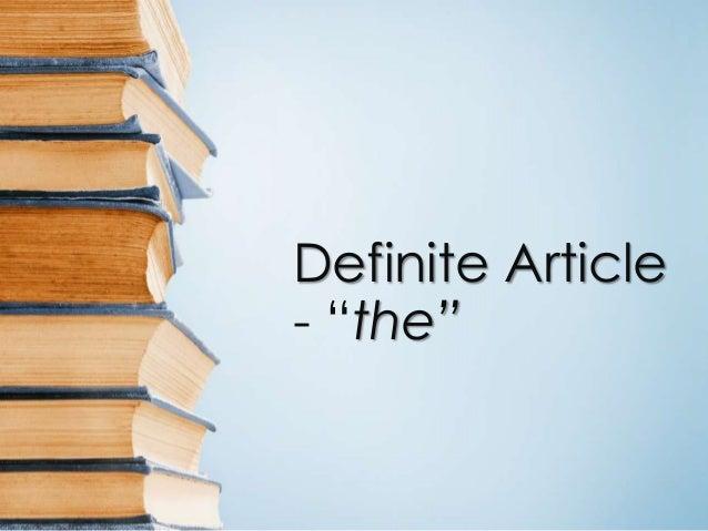 The English Definite Article