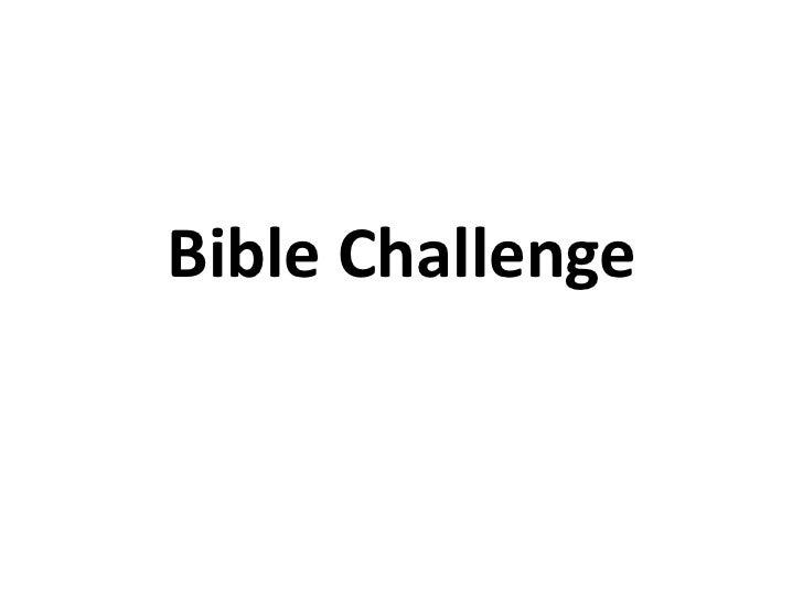 Bible Challenge<br />