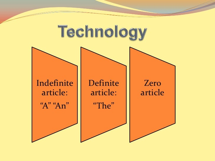 "Indefinite   Definite    Zero  article:   article:   article ""A"" ""An""     ""The"""