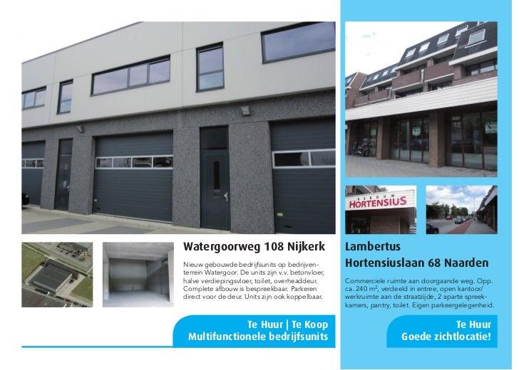 Watergoorweg 108 Nijkerk                            LambertusNieuw gebouwde bedrijfsunits op bedrijven-          Hortensiu...