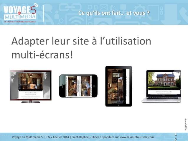 Ce qu'ils ont fait… et vous ?  Adapter leur site à l'utilisation multi-écrans! © Copyright BDC - Tous doits de reproductio...