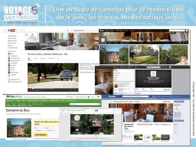 Une stratégie de contenus pour se rendre visible sur le web , les réseaux, médias sociaux, avis…  © Copyright BDC - Tous d...