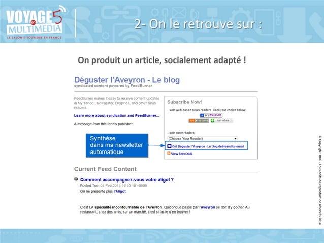 2- On le retrouve sur : On produit un article, socialement adapté !  © Copyright BDC - Tous doits de reproduction réservés...