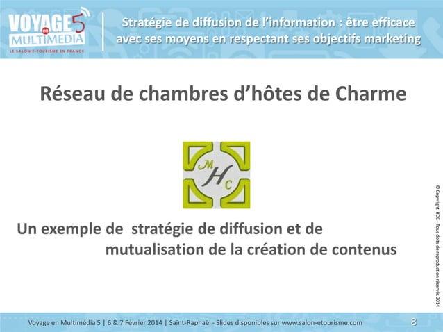 Stratégie de diffusion de l'information : être efficace avec ses moyens en respectant ses objectifs marketing  Réseau de c...