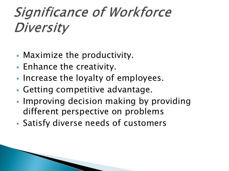 dissertation proposal on managing diversity of workforce Workforce, the interactive effects of multi-dimensional diversity have to be addressed in addition, it is argued that a broadening of the concept of diversity has a potential positive effect on diversity management programs, as it will be more acceptable if it is.